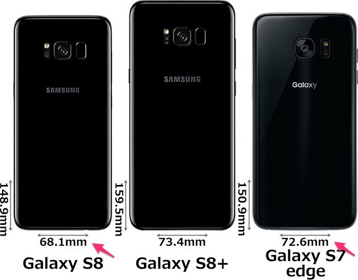 Galaxys7とs8の比較