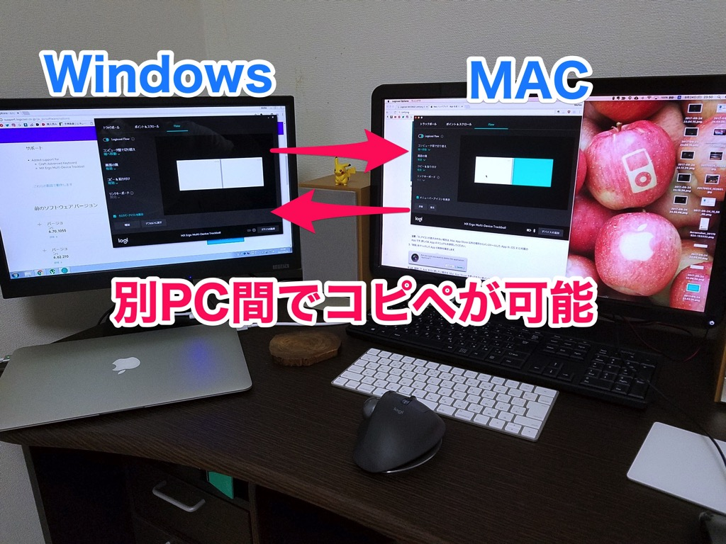 別PC間でコピペが可能なマウス