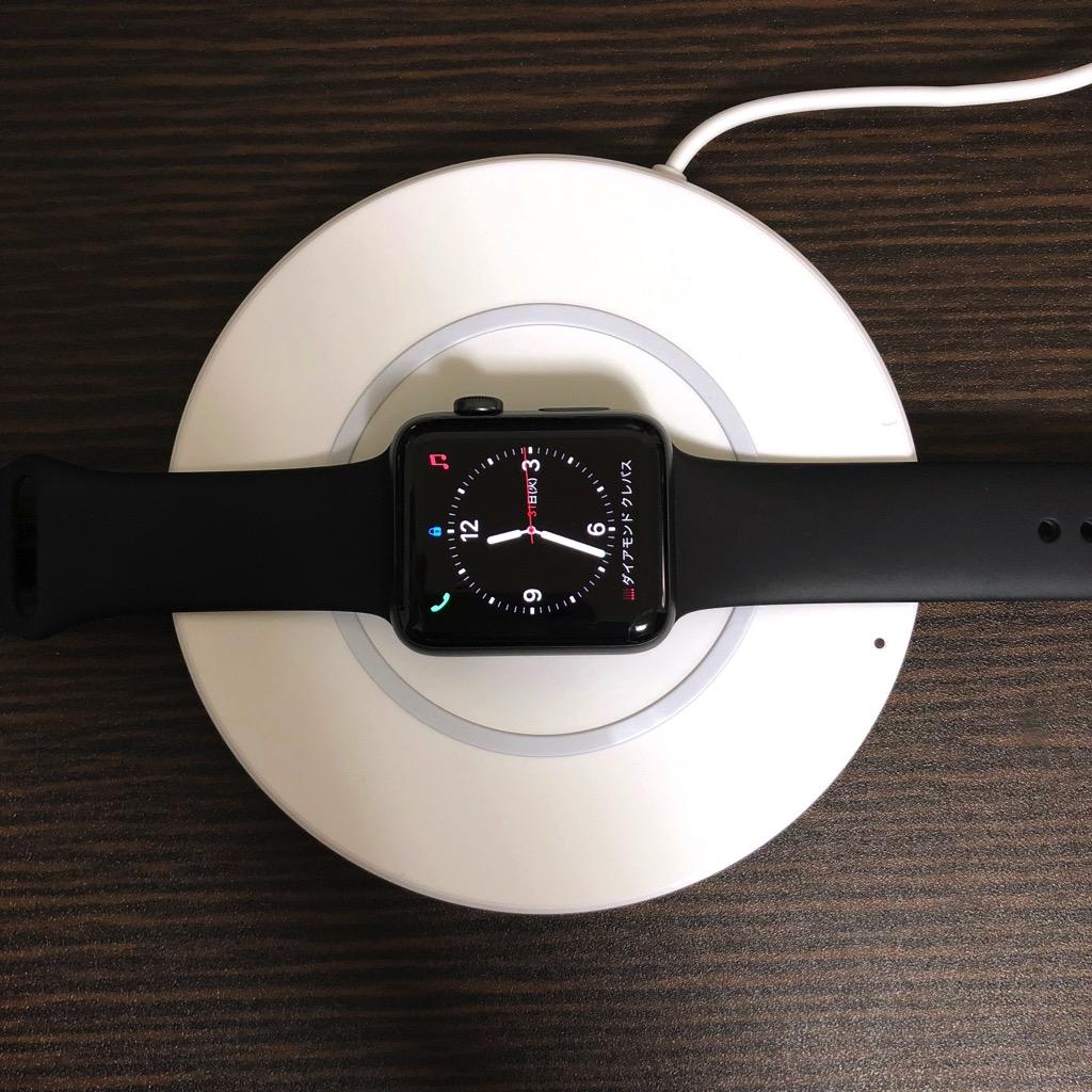 AppleWatchはワイヤレス充電器できない